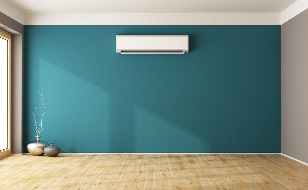 Ar-condicionado quente e frio em destaque