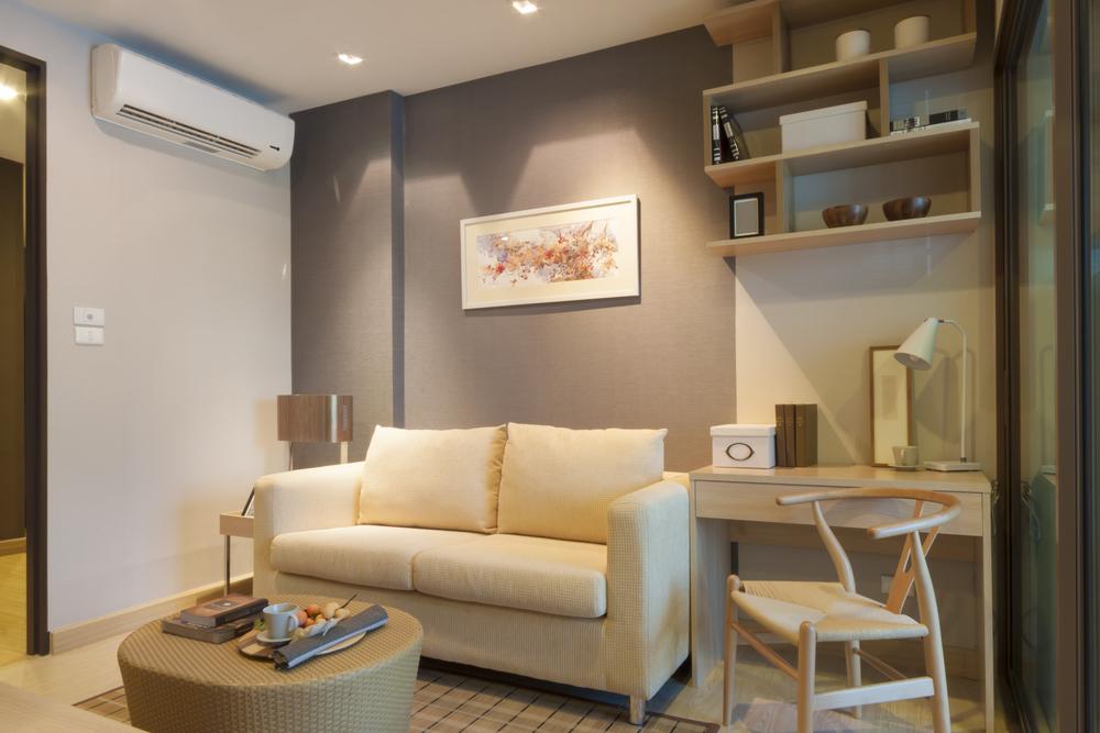 Ar-condicionado em sala de estar