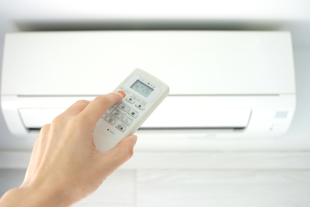 Funções do controle do ar-condicionado