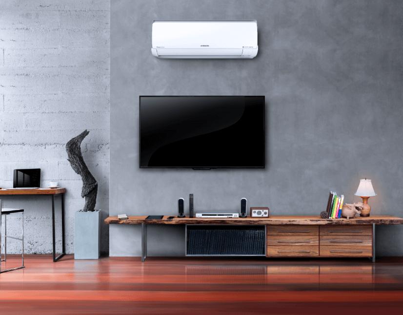 Sala de estar com ar-condicionado