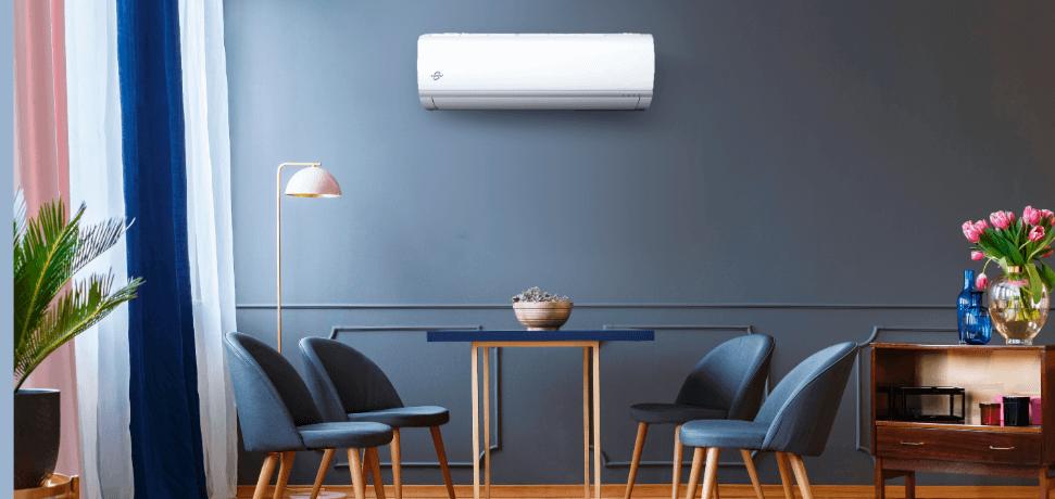 Sala de jantar com ar-condicionado