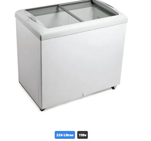 Freezer Expositor Horizontal Metalfrio 226 Litros HF30S com Porta de Vidro Deslizante Branco