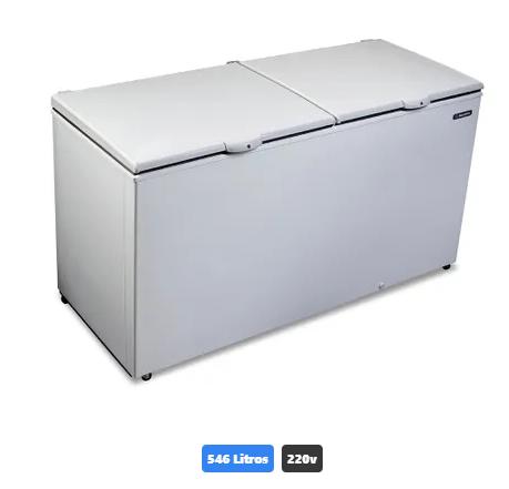 Freezer e Refrigerador Horizontal Metalfrio (Dupla Ação) 2 tampas 546 litros DA550 220v