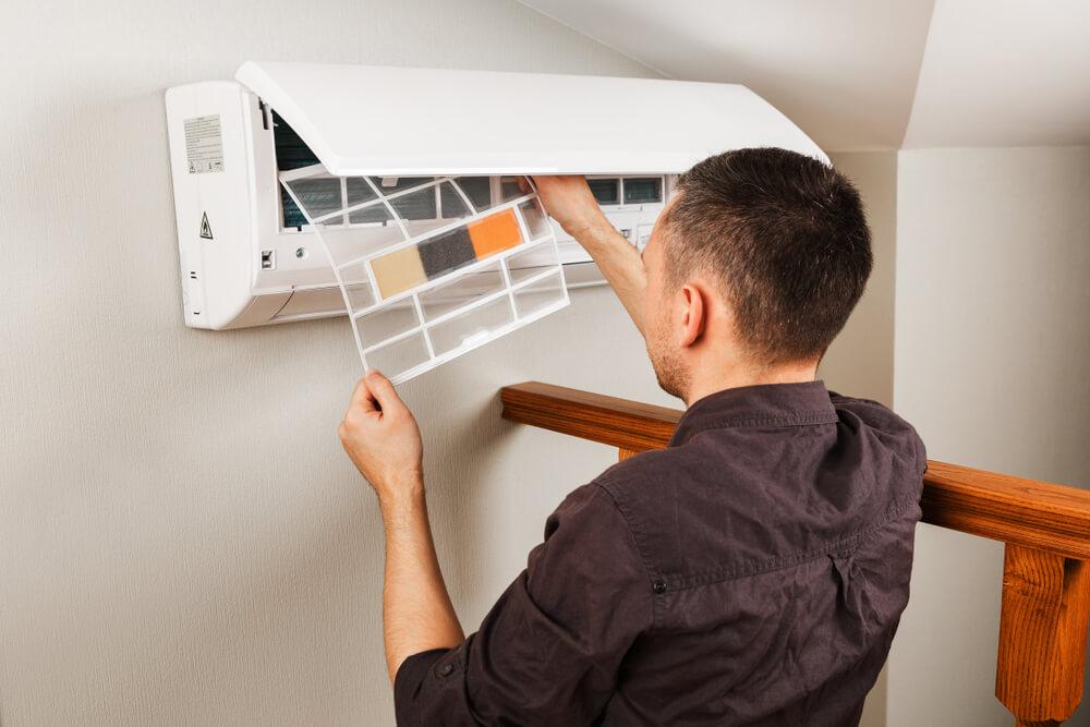 Limpeza filtro do ar-condicionado