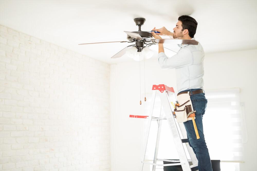 Limpeza ventilador de teto
