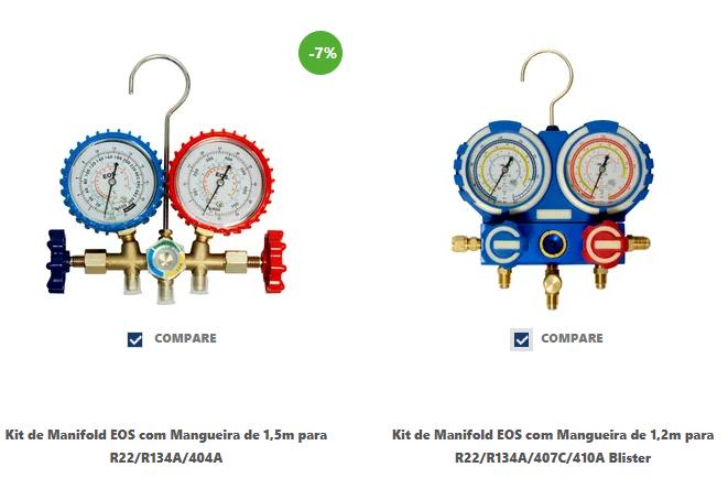 Compare diferentes kits de manifolds