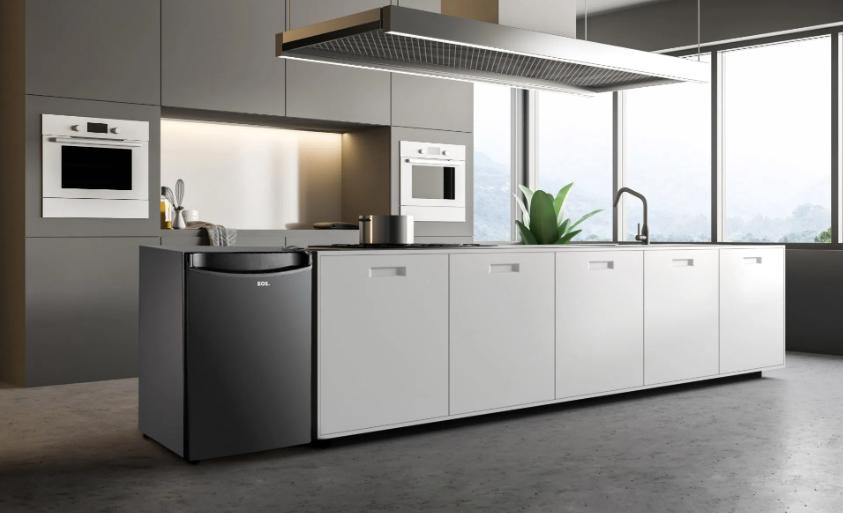 Cozinha moderna com frigobar