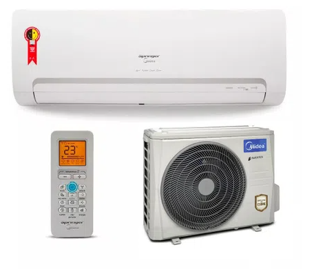 Ar Condicionado Split Inverter High Wall Springer Midea Quente e Frio 12000 BTUs