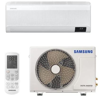 Split High Wall Inverter Samsung Wind Free Plus Quente e Frio 9.000 BTUs com Inteligência Artificial