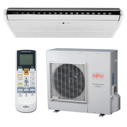 Split Piso Teto Fujitsu Inverter quente e frio
