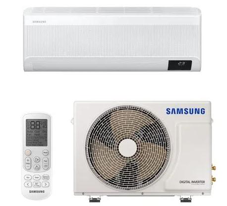 Ar Condicionado Split High Wall Inverter Samsung Wind Free Plus Quente e Frio 12000 BTUs com Inteligência Artificial