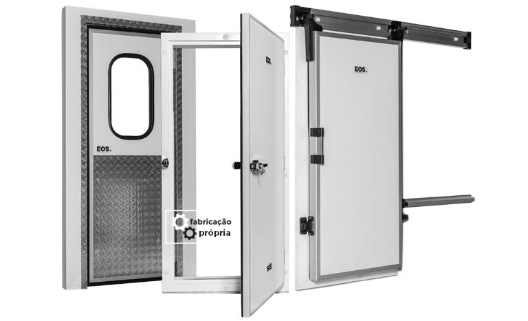 Tipos de portas para câmaras frias