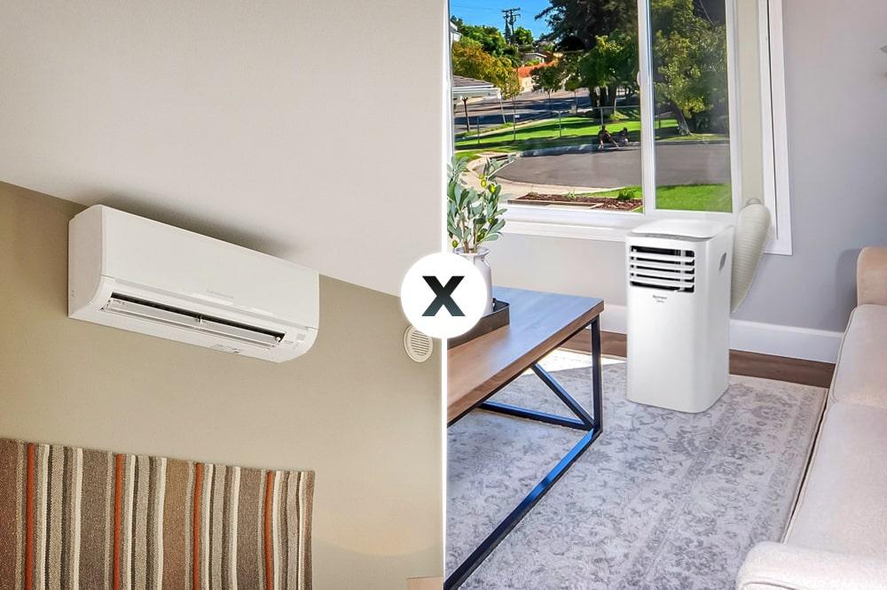 Na disputa entre ar-condicionado portátil e Split, qual modelo sai em vantagem?