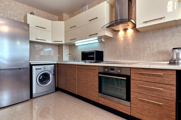 lava e seca integrada na cozinha